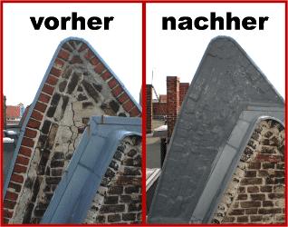 Sanierung eines Dachgiebels